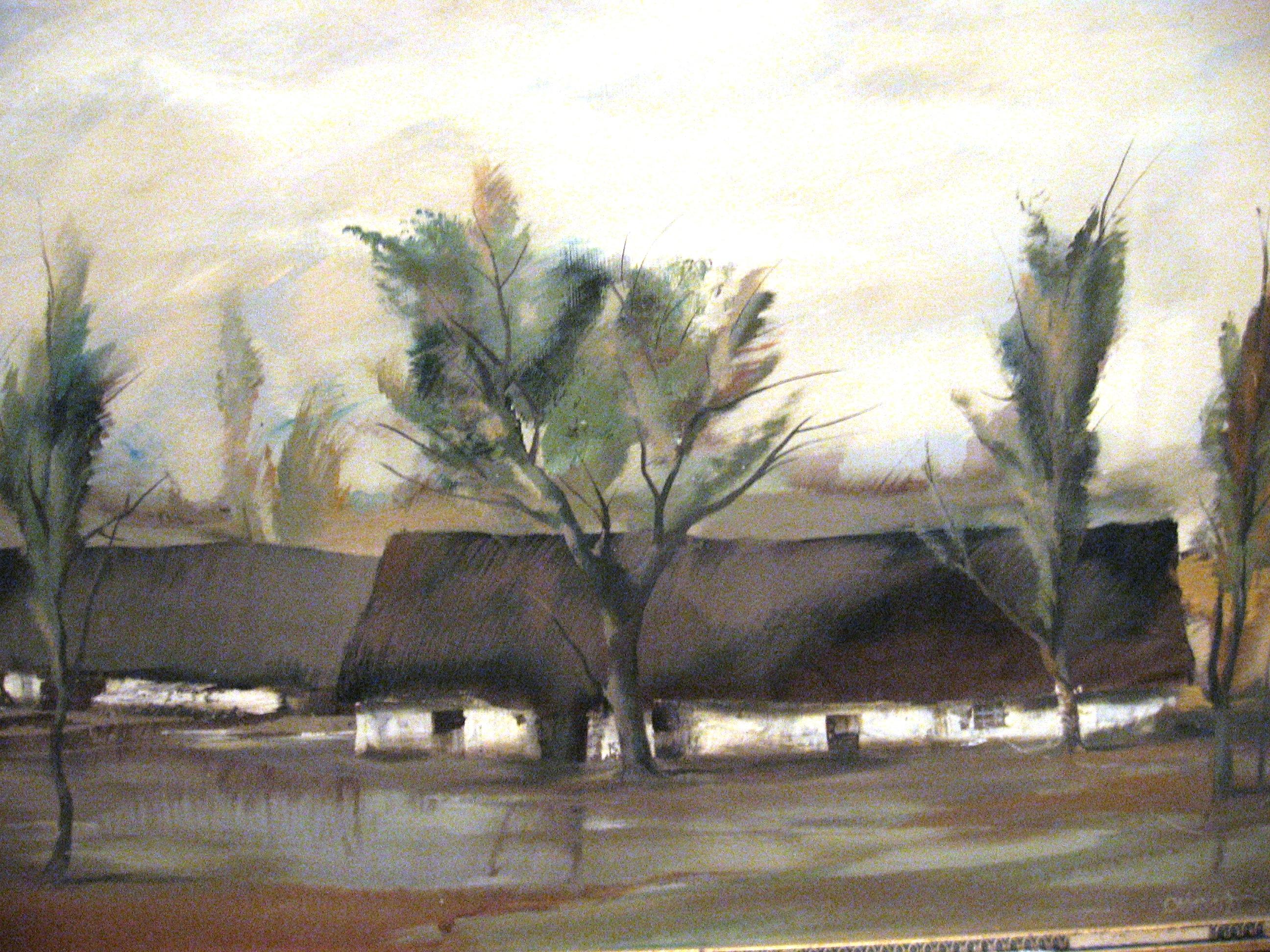 Szabados János - Eső után_1937_60×80