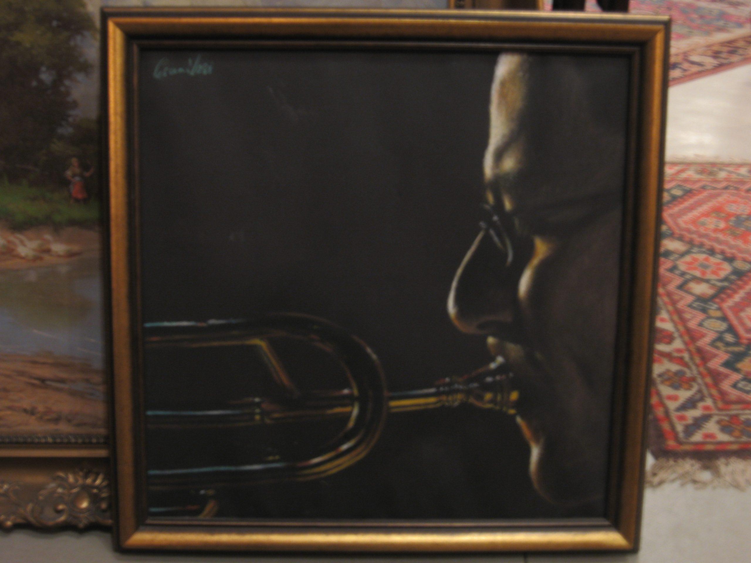 Csanálosi-Tibor-Zenésztanulmány-Trombitás_50×70