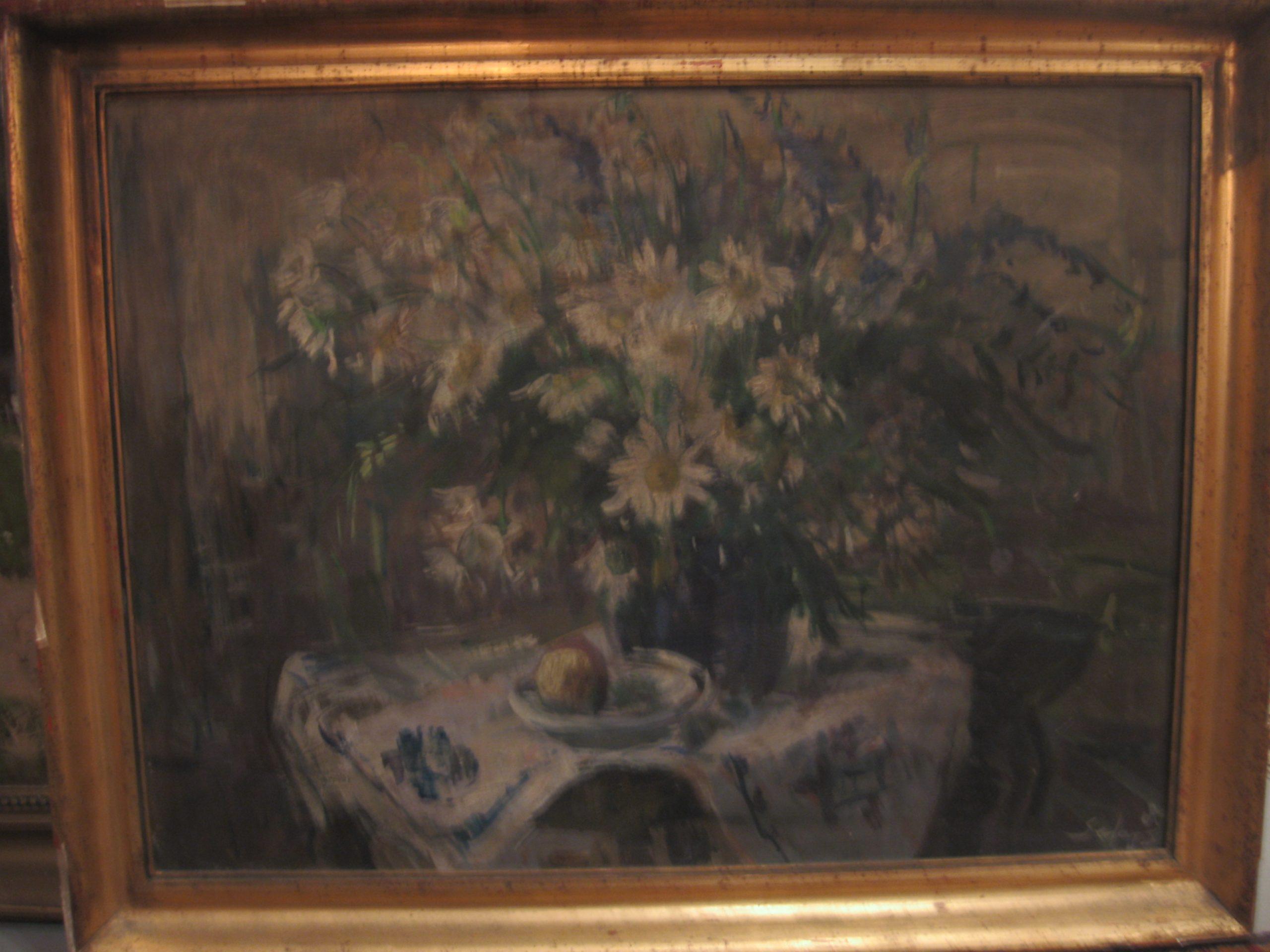 Séday Éva-Kék-asztali-csendélet-olaj-farost-60×80